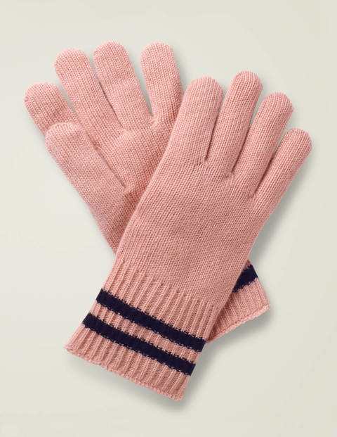 Cashmere Gloves - Chalky Pink/Navy