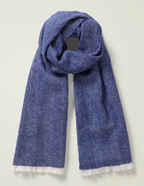 Herringbone Scarf - Blue Wave Herringbone