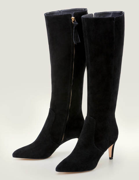 Kenton Knee High Boots - Black