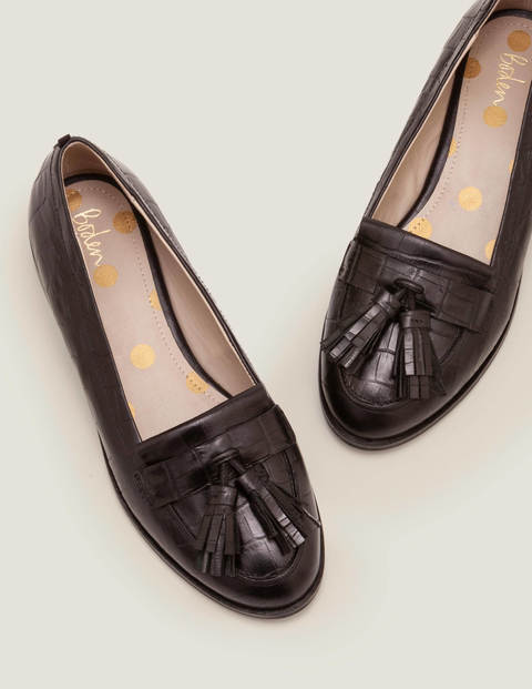 Peggy Loafers - Black Croc