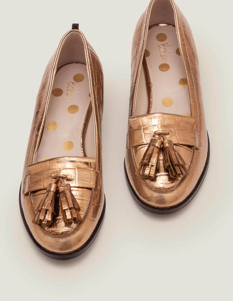 Peggy Loafers - Bronze Croc