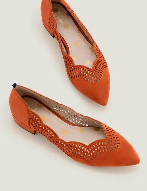 Esme Low Heels - Copper Red