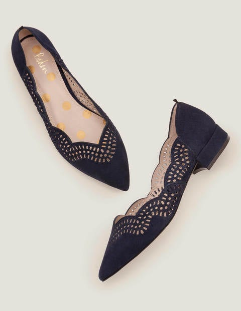 Esme Low Heels - Navy