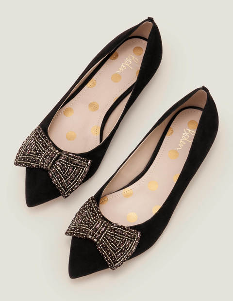 Adelaide Jewelled Flats - Black