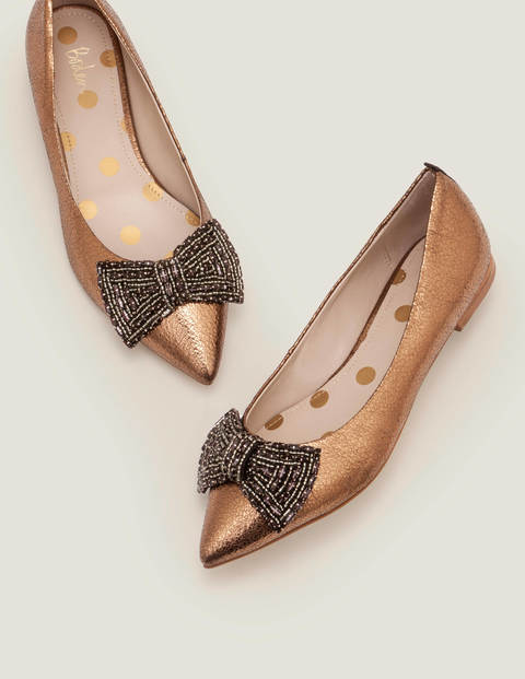 Adelaide Jewelled Flats - Bronze Metallic