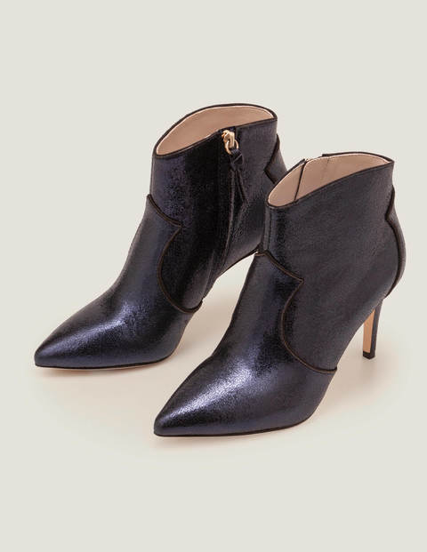 Elystan Ankle Boots - Navy Metallic