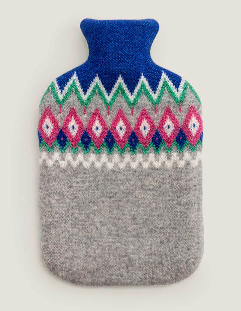 Gifting Hot Water Bottle - Multi Fair Isle