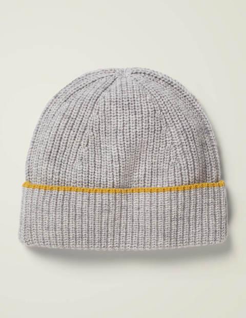 Mütze in Rippstrick