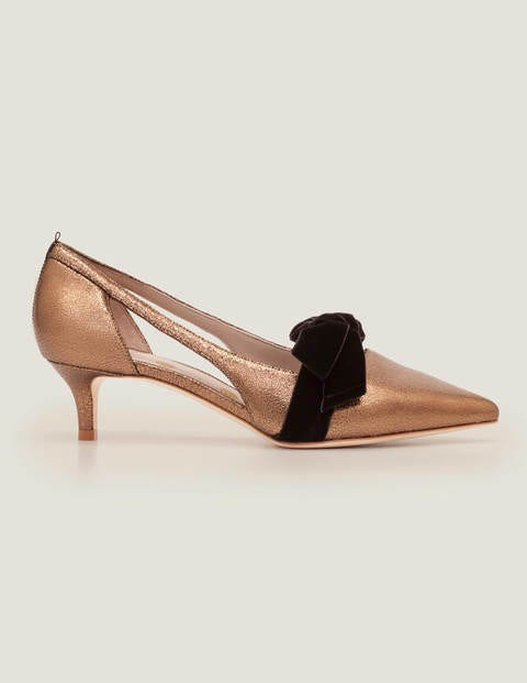 Robyn Kitten Heels - Bronze Metallic