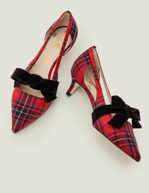Robyn Kitten Heels - Poinsettia & River Check