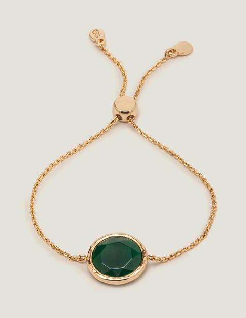Semi-Precious Bracelet - Green Agate