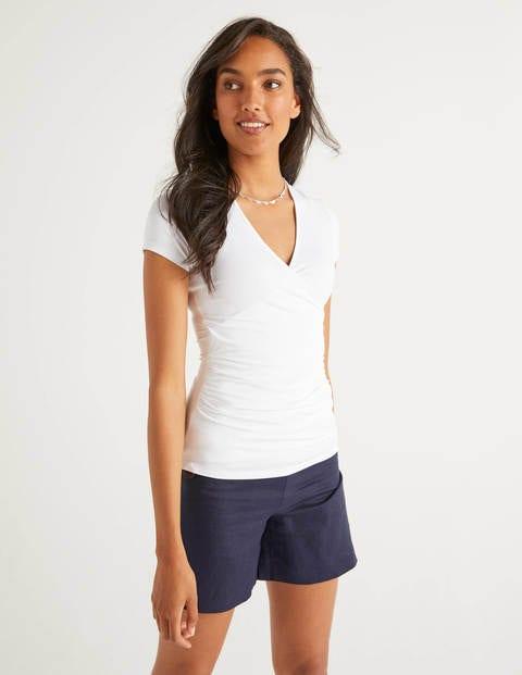 Short Sleeve Jersey Wrap Top