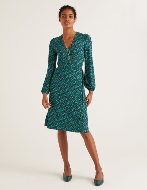 Elodie Jersey Wrap Dress