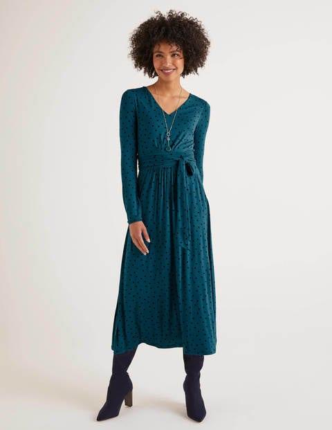 boden - Ferne Jersey-Midikleid Blue Damen , Blue