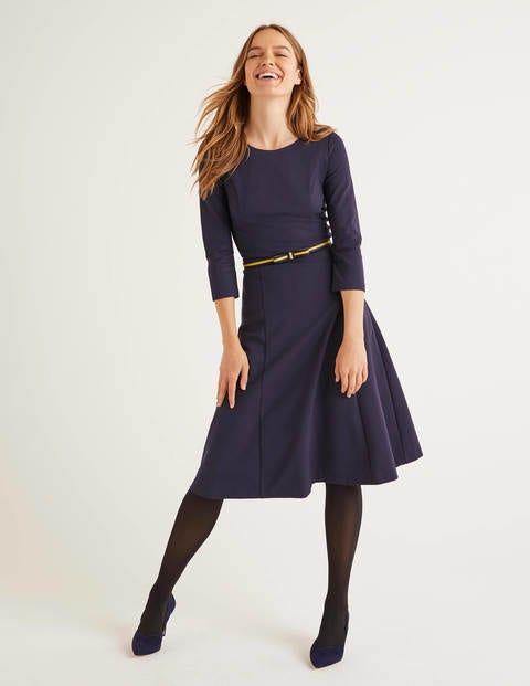 Nancy Ponte Dress - Navy