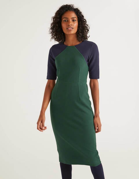 Poppy Ottoman Dress - Midnight Garden/Navy