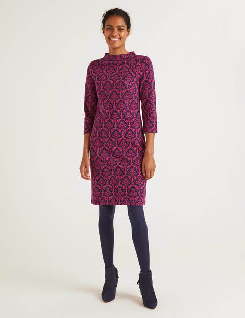 Victoria Jacquard Dress - English Berry, Poppyseed Bud