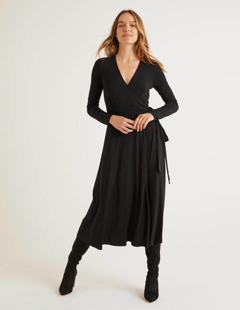 Laurie Jersey Dress - Black