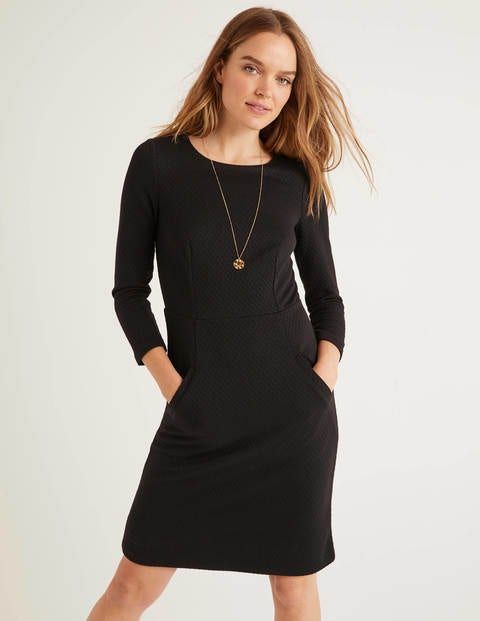 Agnes Jacquard Dress - Black