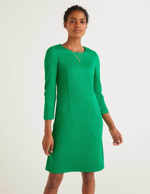 Agnes Jacquard Dress - Highland Green