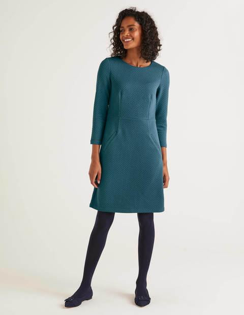 Agnes Jacquard Dress - Baltic
