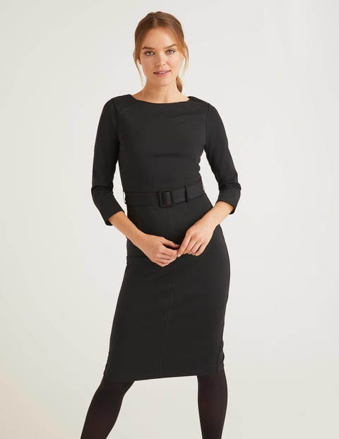 Rosalie Ponte Dress - Black