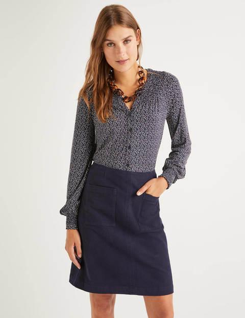 Alba Jersey Shirt - Navy/Ivory, Sweet Petal