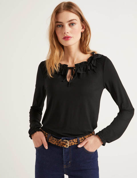 Catriona Jersey Top - Black
