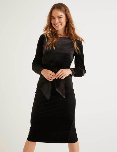Julianna Velvet Dress - Black