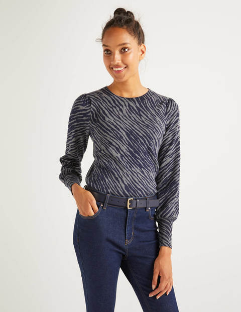 Antonia Sweater - Charcoal Melange, Zebra