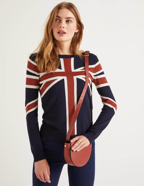 Estella Sweater - Navy Bronze Union jack