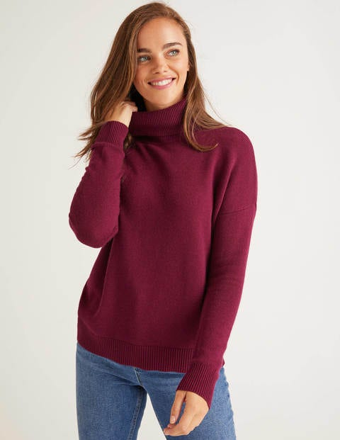 Cora Roll Neck Jumper - Ruby Ring