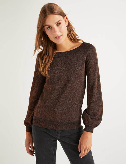 Mabel Sweater - Black and Copper Sparkle