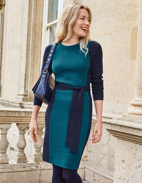 Rosa Dress - Baltic/Navy Tipping