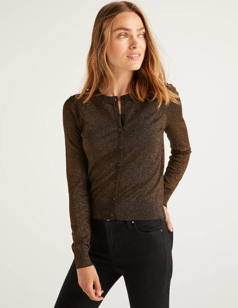 Rosetta Cardigan - Black/Gold