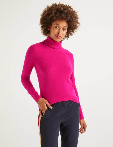 Cashmere Roll Neck - Berry