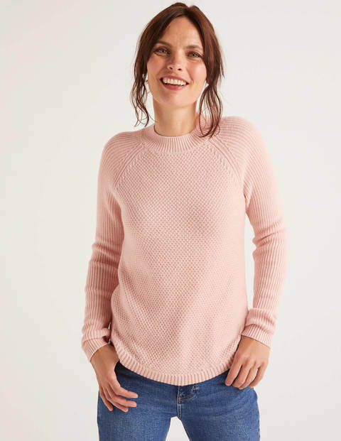 Leonora Textured Jumper   Milkshake by Boden