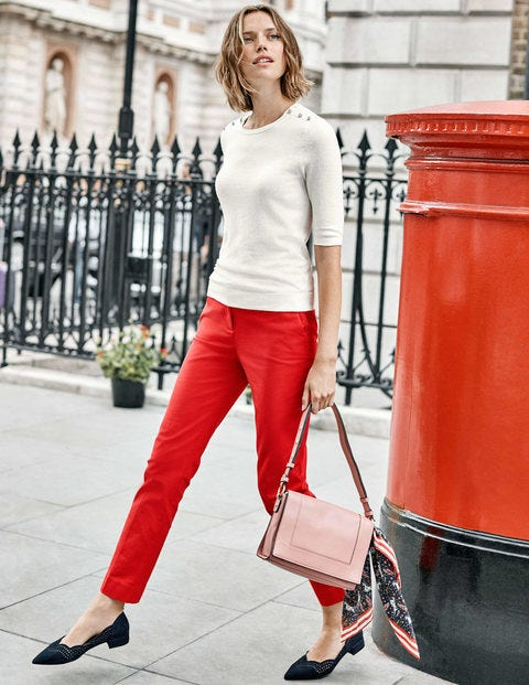 Richmond 7/8 Trousers - Post Box Red