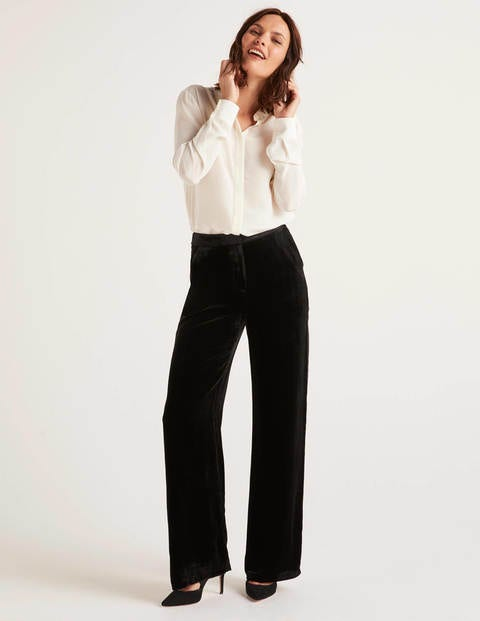 Selwood Velvet Pants - Black