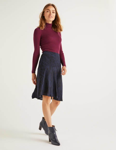 Virginia Skirt - French Navy and Black, Safari