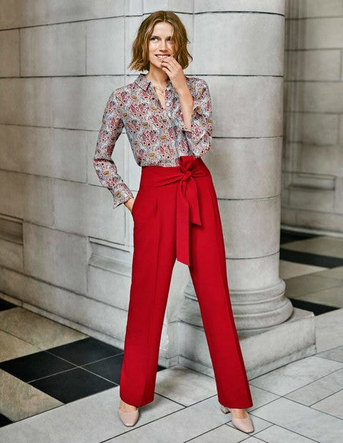 Ketton Wide Leg Pants - Poinsettia