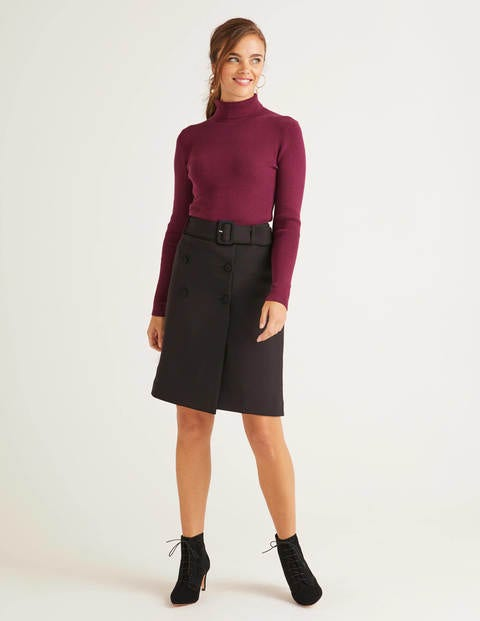 Joanna Belted Skirt - Black