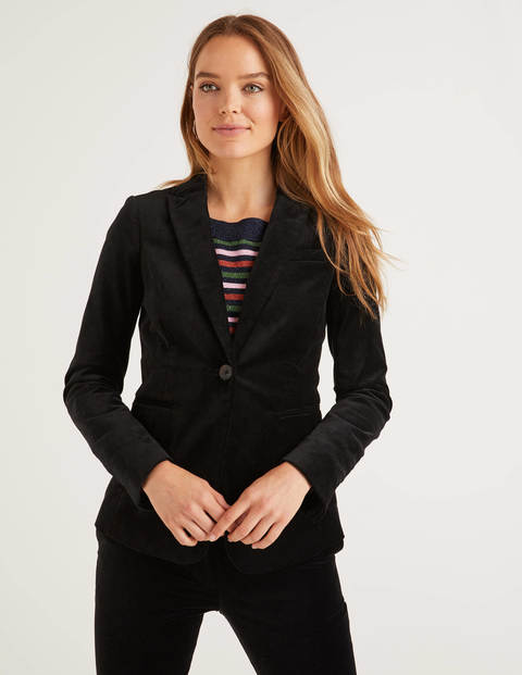Sackville-West Velvet Blazer - Black