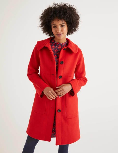 Pym Coat - Post Box Red
