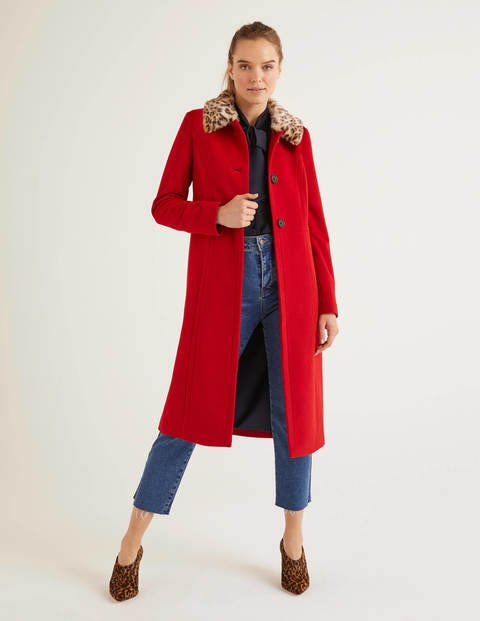 Austen Mantel Red Damen Boden, Red