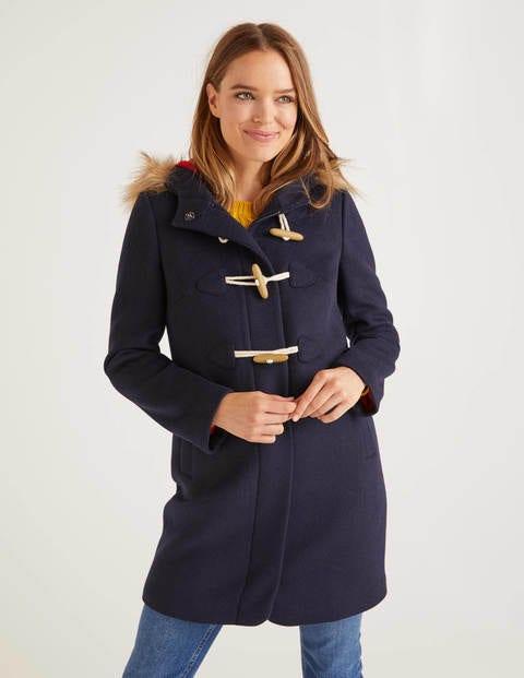 Brontë Duffle Coat - Navy