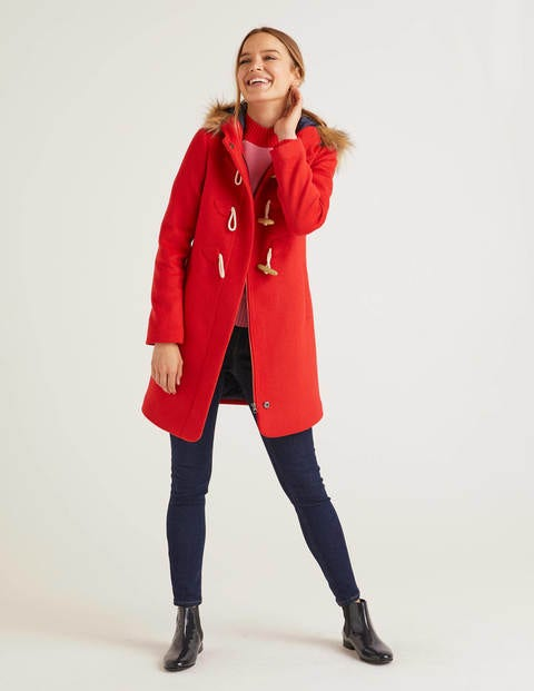 Brontë Duffle Coat - Post Box Red
