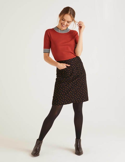 Bay Mini Skirt - Pumpkin, Scattered Spot