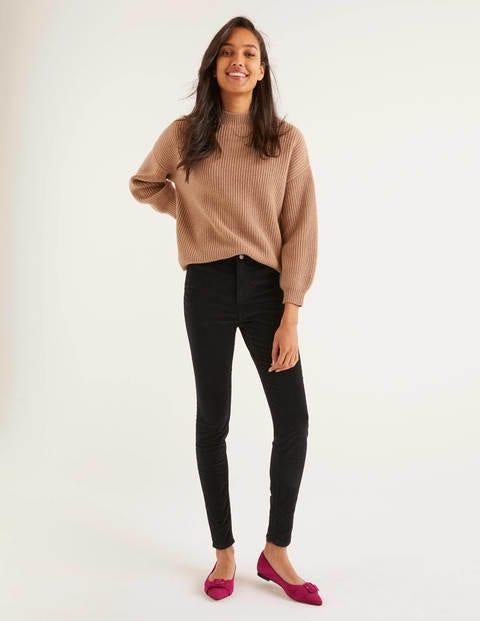 Velvet Super Skinny Jeans - Black