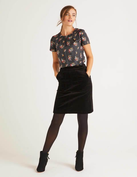Leonie Cord Mini Skirt - Black